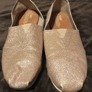 Rose Gold Glitter Toms Classics